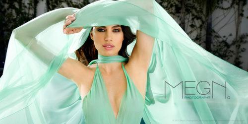 MegN. Lifestyle Fashion Photography Green Sheer Dress